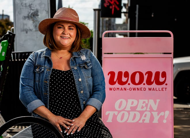 Amanda Dare, owner of The New Blak and W.O.W., poses for a picture in front of her Nulu storefront. May 27, 2021