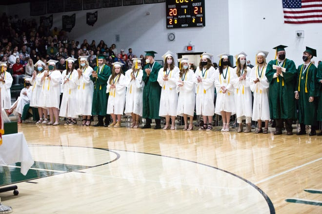 Madison Comprehensive High School graduated over 200 students Saturday and 17 of them were valedictorians.