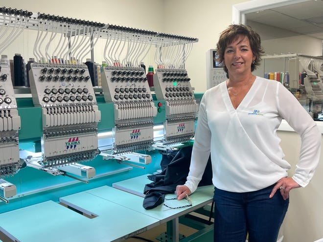 Despite the pandemic last year, Luann Krebs, owner of Rivers Edge Embroidery & Screen Printing, found success with screen printing face masks as well as adding new clients from around the area.