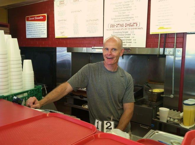 Phil Bryant at his family restaurant Bryant's Breakfast.