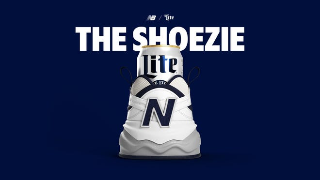 New Balance and Miller Lite teamed up to create The Shoezie, ashoe-meets-koozie.