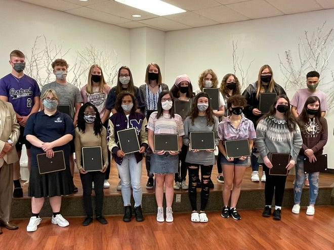 Muncie Central High School sophomores were honored by the Exchange Club of on May 13, 2021.