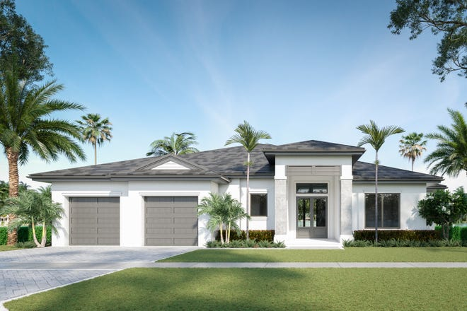 The Spring Lake is the first of two models Divco Custom Homes will have in Naples' single-family community of Montebello.