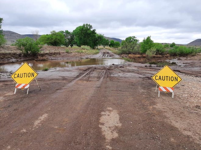 Picacho Road was closed May 31 in response to flood conditions in Lincoln County.