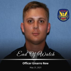 Phoenix Police Department Officer Ginarro New was killed in a fatal crash at Cave Creek Road and Greenway Parkway on May 31, 2021.