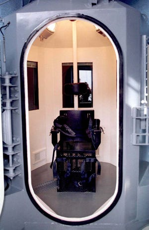 The gas chamber at Arizona State Prison in Florence, as seen on Feb. 18, 1999.