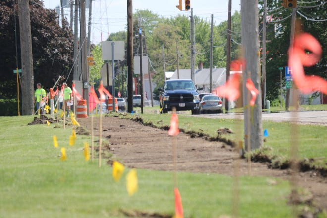 """Crews recently broke ground on a new """"Safe Routes to School"""" project, which will add sidewalks along Fremont Road/Ohio 53, where currently there are none, as well as traffic control upgrades, estimated to cost $348,538."""