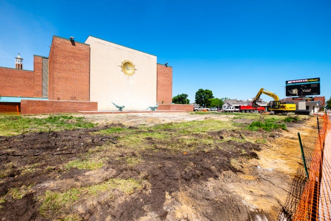 Construction has begun on the revamp of McMorran Plaza several months after officials had to value-engineer the project to keep costs down.