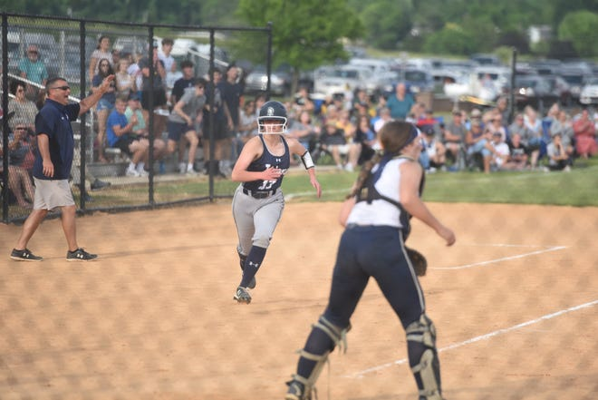 Chambersburg's softball team advanced to the District 3 championship game, defeating Penn Manor 7-5 at Norlo Park Tuesday.