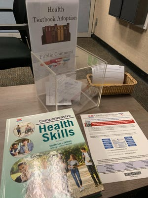 Comprehensive Health Skill by G-W Publishers is available for view at the Visalia Unified School District's front lobby.