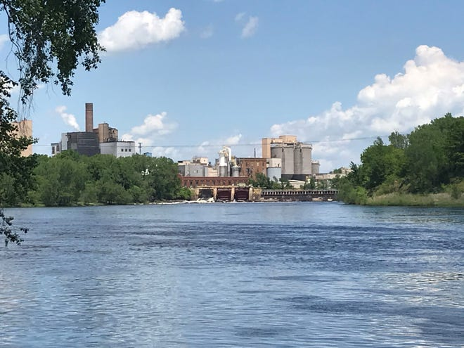 Domtar and the dam on the Wisconsin River in Nekoosa