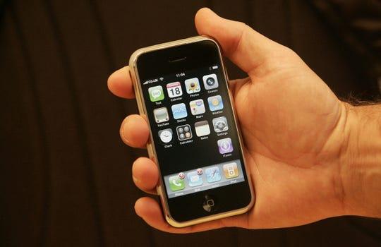 The original iPhone unveiled in 2007.