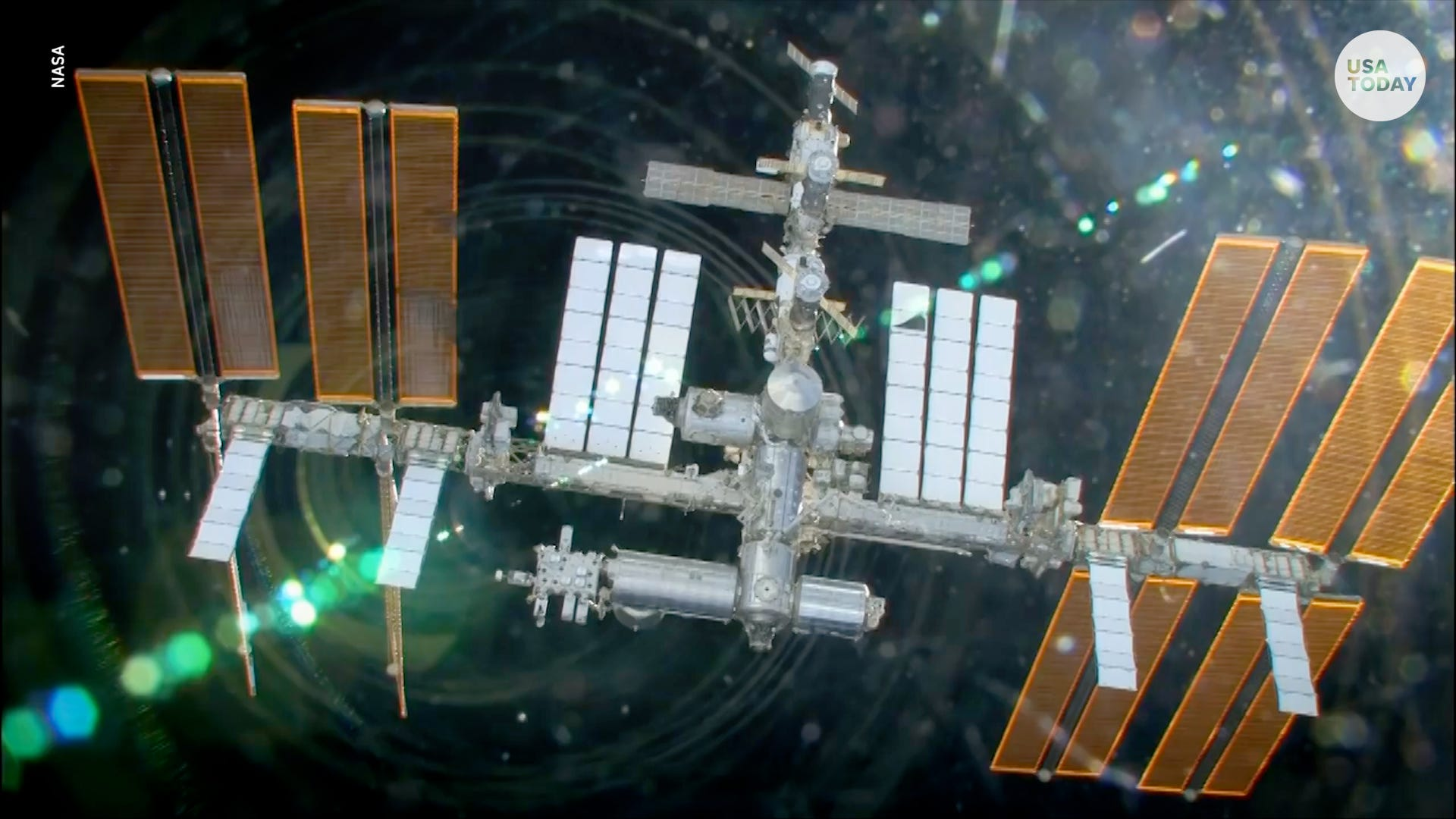 Space debris rips holes into the International Space Station