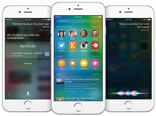 A screenshot of iOS 9 software.