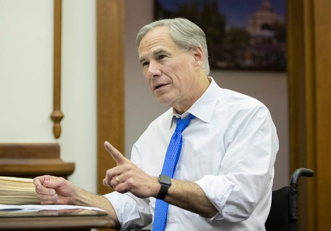Gov. Greg Abbott, shown in his Capitol office on June 2, last week ordered state troopers to pull over vehicles suspected of transporting migrants who were in federal custody for illegally crossing the border.