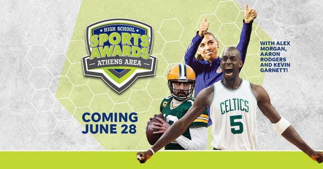 NBA Champion and MVP Kevin Garnett joins celebrity athletes, including Alex Morgan and Aaron Rodgers, announcing the winners of the Florida Panhandle High School Sports Awards.