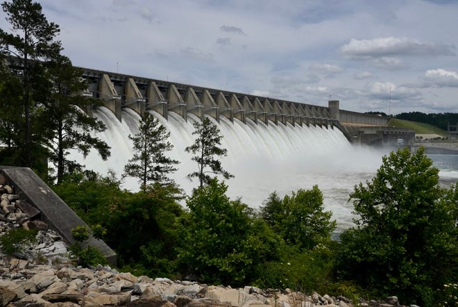 The U.S Army Corps of Engineers tested the spillway gates at J. Strom Thurmond Dam Wednesday afternoon.