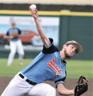 Josh Weber delivered a strong performance for the Bartlesville Doenges Ford Indians during the first game of Tuesday's doubleheader against Montgomery County. The teams played at Doenges Stadium.