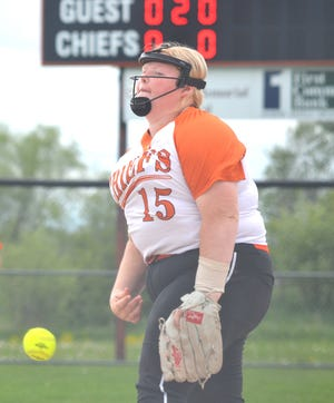 Senior pitcher Morgan Brandau and Cheboygan advanced to the Division 2 district softball semifinals after beating Marquette 11-1 in a pre-district clash on Tuesday.