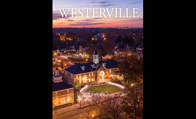 Westerville City Hall at night