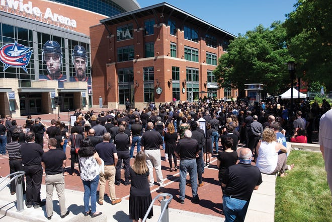 Nationwide employees gather in June for a unity event organized by the company's African American employee organizations.