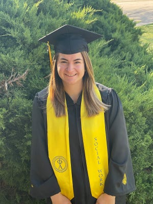 Fort Hays State University Bachelor of Social Work student Jayden Garcia of Dodge City, was inducted into the Epsilon Omicron Chapter of the Phi Alpha National Social Work Honor Society.