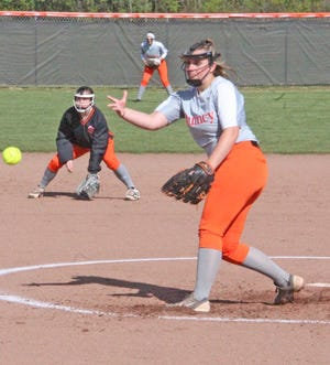 Quincy senior pitcher Morgan Michael shut down the Homer offense in the Orioles District victory Tuesday, helping Quincy move on to Saturday's D3 District semifinals