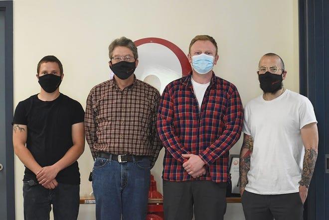 The Veolia North America Gardner team members, from left, are Kyle Swenson, Joe Zadrozny, Jeremy Johnston and Tim Michaud.