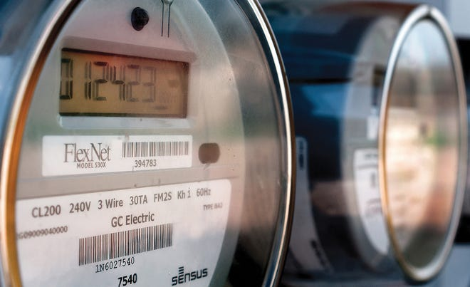 Digital electric meters run for a group of Garden City residences. Electric rates for Garden City residents will see an increase on their bills, from the winter's extreme cold snap as a result of the City Commission voting on Tuesday.