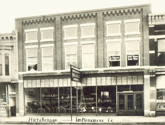 C.O. Hitchcock and James Stokley built a new building at 17-19 E. Sherman and on March 30, 1911, they opened the Hutchinson Implement Co.