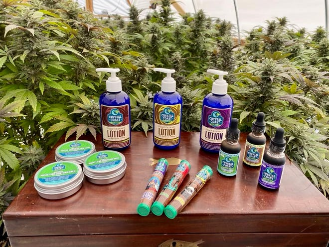 Swansboro hemp farm Crystal Coast Farms offers a range of CBD products for humans, such as lotions, tinctures, balms and smokables, and even pet supplements.