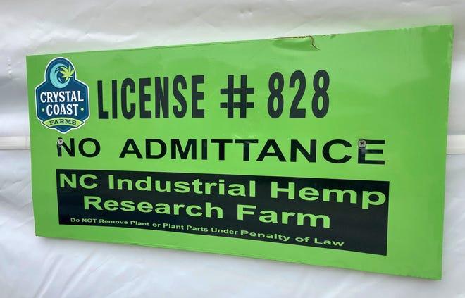 Crystal Coast Farms, an organic hemp farm in Swansboro, is one of the Jacksonville area's first commercial hemp farms.