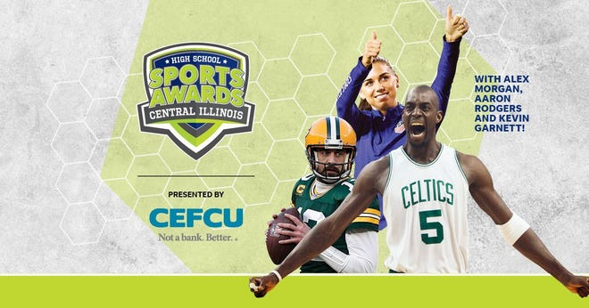 NBA Champion and MVP Kevin Garnett joins celebrity athletes, including Alex Morgan and Aaron Rodgers, announcing the winners of the Central Illinois High School Sports Awards.
