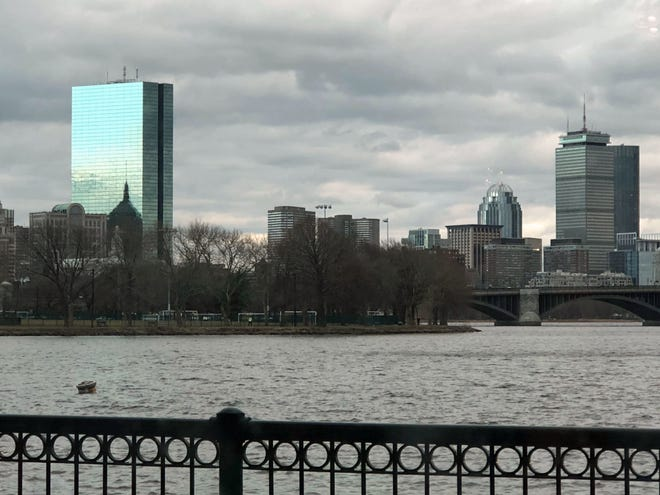 Here is the Boston skyline as seen from the Museum of Science.