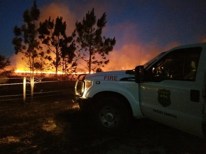 Wildfires burn across Polk County late last week.
