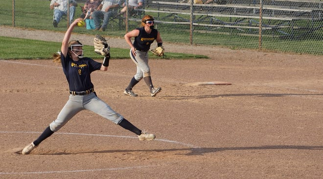 Freshman Unity Nelson pitched a one-hitter with 13 strikeouts for Whiteford in its District Tournament opener Tuesday. The Bobcats beat Britton Deerfield 14-0 in 5 innings.
