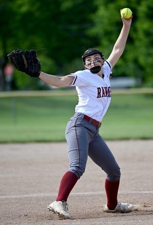 Westborough pitcher Ella Antonelli winds up during Wednesday's game against Marlborough at Westborough High School, June 2, 2021.