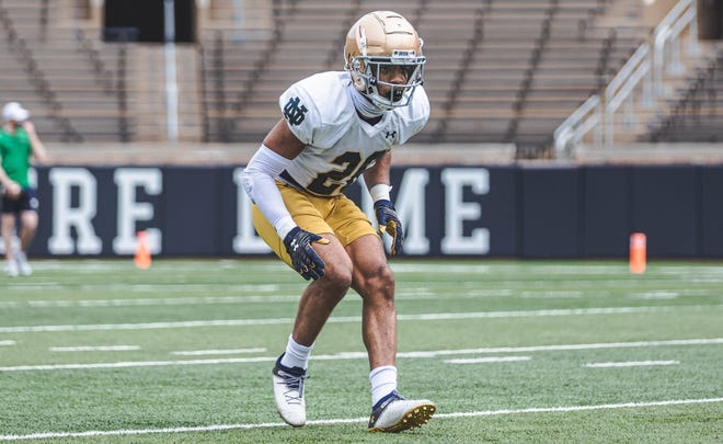 Notre Dame sophomore cornerback Clarence Lewis emerged from spring practice at the top of the depth chart.