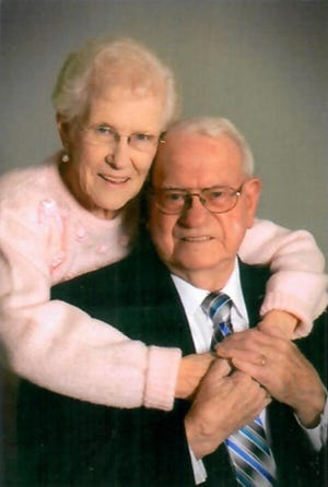 67 years: Peggy and Gene Holt, of Midwest City, were married June 26, 1954, in Carney.