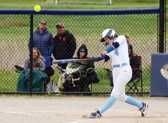 Petoskey's Kenzie Bromley finished 3-for-3 at the plate against Gladwin, though the season closed for the Northmen with a loss.