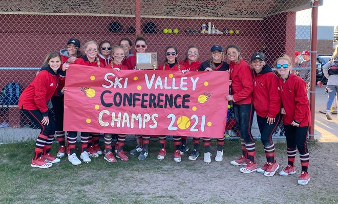 The Johannesburg-Lewiston varsity softball team won its first Ski Valley Conference championship since 1982 after sweeping Onaway in a doubleheader on Friday, May 28.