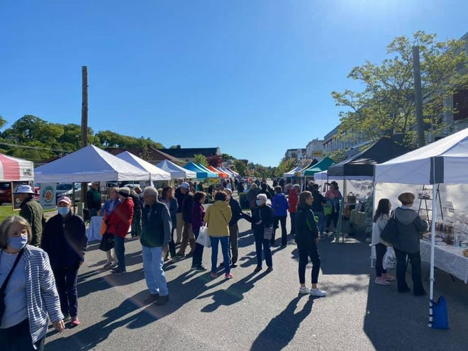 Opening day for the Harbor Springs Farmers Market on Saturday, May 29.