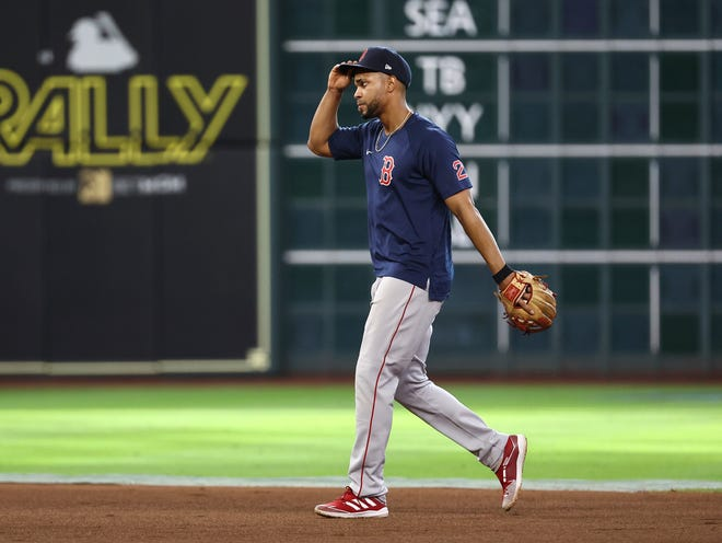 Xander Bogaerts entered Wednesday night hitless in five straight games.