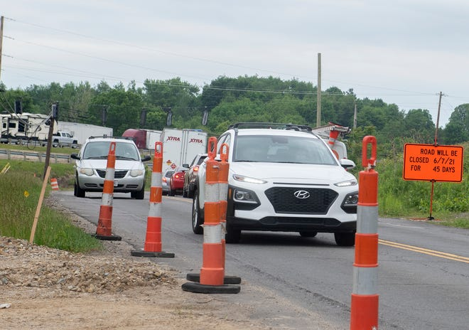 The northbound leg of Mogadore Road will be closed on June 14. The project will reconstruct the intersection of Tallmadge and Mogadore Road, and will reconstruct the interchange ramps of 1-76.