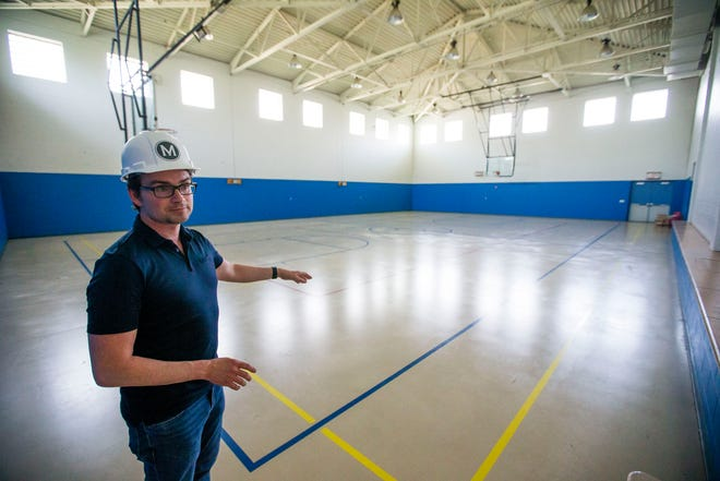 Developer David Matthews says a full-size gym would separate his proposed hotel from others seeking the youth sports travel business.
