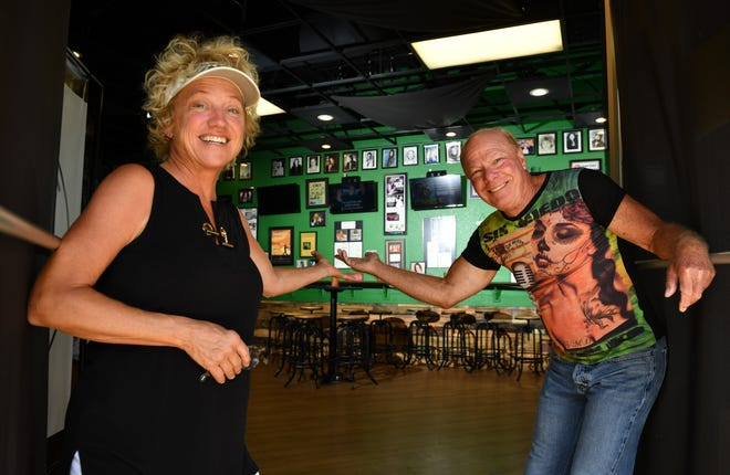 Pam and Les McCurdy will open the doors and invite customers to visit The Green Room and McCurdy's Comedy Theatre on Friday.