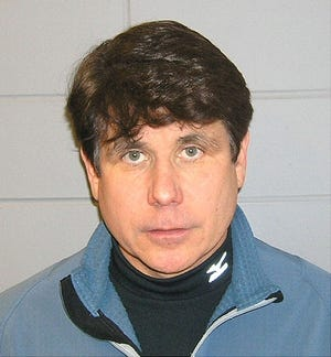Booking photo for former Illinois governor Rod Blagojevich.