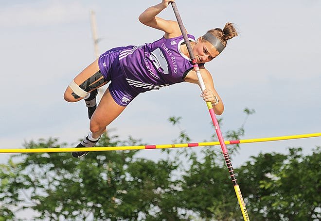 Ellana Haifley dominated the pole vault event, clearing 9-03 for first place.