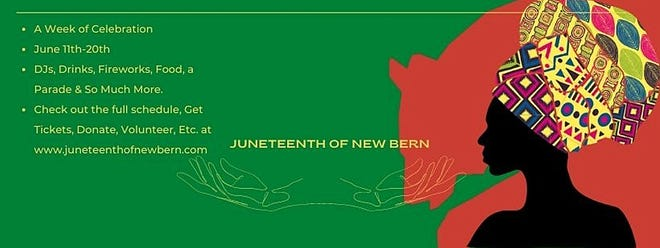 New Bern's Juneteenth celebration is greatly expanded this year.