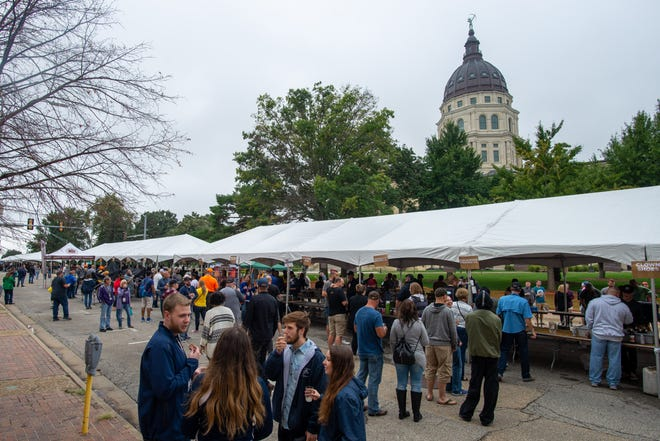 Guests enjoyed a wide variety of beers at the 2019 Tap That in downtown Topeka.